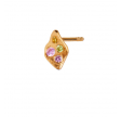 PETIT ILE DE L'AMOUR WITH STONES EARRING GOLD - LIGHT PINK SORBET
