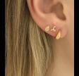 PETIT SPARKLING TEARDROP W/ZIRCON EARRING GOLD