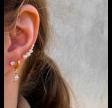 Pearl croissant earrings