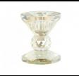 Lysestage D6x7cm glas - Champagne