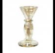 Lysestage D7x13cm glas Champagne