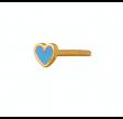 PETIT LOVE HEART LIGHT BLUE ENAMEL GOLD